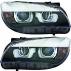 2 Phares avant BMW X1 E84 Angel Eyes 3D LED 12-14 - Noir