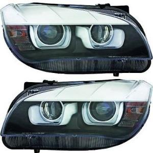 2 Phares avant BMW X1 E84 Angel Eyes 3D LED 12-14 - Noir