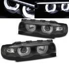 Phares BMW Serie 7 E38 Angel Eyes LED U-LTI 94-01 - Noir