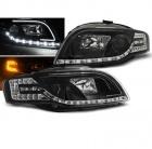 Phares avant AUDI A4 (B7) - LTI et LED - Noir