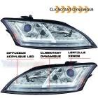 Phares xenon AUDI TT 8J  06-11 - look Matrix LED - Chrome