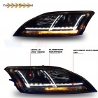 Phares AUDI TT 8J  06-11 - look xenon Matrix LED - Noir