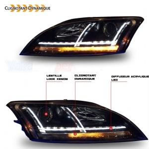 Phares AUDI TT 8J  06-11 - look xenon Matrix LED - Noir