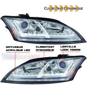 Phares AUDI TT 8J  06-11 - look xenon Matrix LED - Chrome
