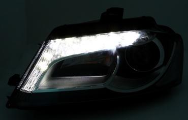 2 phares led audi a3 8p facelift 08 12 look x non yakaequiper. Black Bedroom Furniture Sets. Home Design Ideas