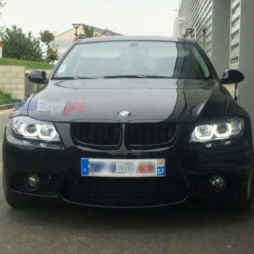 Phares Bmw Serie 3 E90 E91 Angel Eyes Led U Lti 05 08
