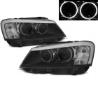 2 Phares BMW X3 F25 Angel Eyes LED 10-14 look xenon - Noir