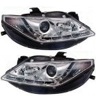 Phares SEAT Ibiza 08-12 - LED - Chrome
