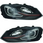 Phares avant VW Polo 6R 09-14 - LED look GTI - noir