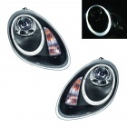 2 Phares Porsche Boxster Angel Eye 04-08 - Noir