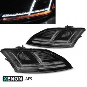 2 Phares xenon AUDI TT 8J phase 2 10-14 - look Matrix LED - AFS - Noir