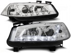 2 Phares avant Renault Megane 2 02-05 Devil Eyes LED - Chrome