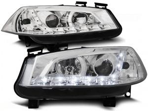 2 Phares avant Renault Megane 2 02-05 Devil Eyes LED - Chrome