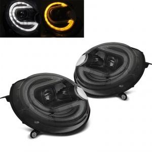 2 Phares avant Mini Cooper R55 R56 R57 R58 R59 - LED 06-14 - Noir