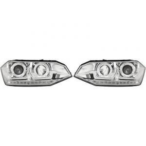 2 Phares VW Polo 6 AW 18-20 - dynamiques - Chrome