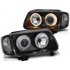 Phares avant VW Polo (6N2) Angel Eyes - Noir