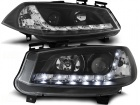 2 Phares avant Renault Megane 2 02-05 Devil Eyes LED - Noir