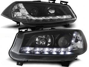 2 Phares avant Renault Megane 2 02-05 Devil Eyes LED - Noir