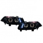 2 Phares avant Renault Megane 2 02-05 Angel Eyes LED - Noir