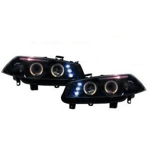 2 Phares avant Renault Megane 2 02-05 Angel Eyes LED - Noir