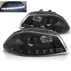 Phares SEAT Ibiza 6L - 02-08 - Devil eyes LED - Noir