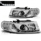 Phares SEAT Leon Toledo 1M 99-04 - Devil Eyes LED - Chrome