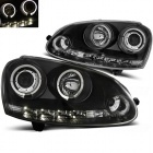 Phares avant VW Golf 5 03-09 Angel + Devil Eyes - Noir