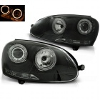 Phares avant VW Golf 5 Angel Eyes - Noir