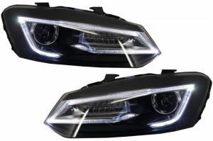 Phares VW Polo 6R 6C  10-17 - look Devil LED - Noir