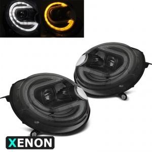 2 Phares xenon avant Mini Cooper R55 R56 R57 R58 R59 - LED 06-14 - Noir