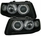 Phares avant Audi A3 8L Angel Eyes 00-03 - Noir
