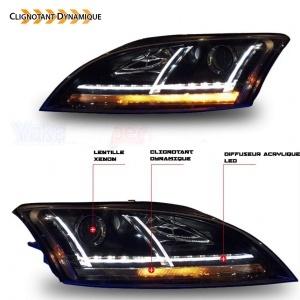 Phares xenon AUDI TT 8J  06-11 - look Matrix LED - Noir