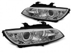 Phares xénon BMW Serie 3 E92 E93 Coupe Angel Eyes LED U-LTI 05-08 - Chrome