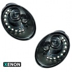 Phares xenon VW New Beetle 98-05 - DRL LED - Noir