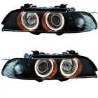 Phares avant BMW Serie 5 E39 95-03 Angel Eyes - Noir