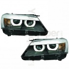 2 Phares avant BMW X3 F25 Angel Eyes 3D LED 10-14 - Noir