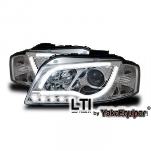 2 Phares avant AUDI A3 (8P) - LTI - Chrome