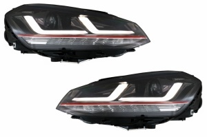 2 Phares xenon avant VW Golf 7 - fullLED - Rouge - OSRAM Dynamiques