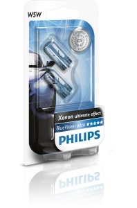 Pack 2 ampoules W5W Philips Blue Vision Ultra