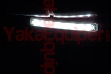 Feux de jour 8 LED Diurne 15cm - Blanc Pur - Daytime
