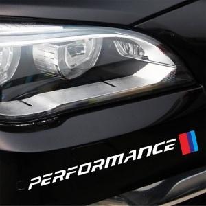 Lot de 2 stickers pour BMW sport blanc 26cm ///