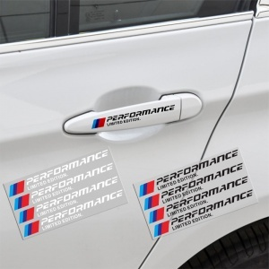 Lot de 4 stickers pour BMW sport blanc ///