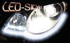 Pack Bande Flexible LED SIDE - 30cm - Eclairage de coté - Feux de jour - Blanc Pur