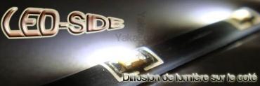 Pack Bande Flexible LED SIDE - 60cm - Eclairage de coté - Feux de jour - Blanc Pur