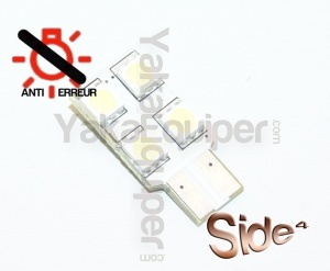 Ampoule T10 LED Side<sup>4</sup> SMD- Anti Erreur OBD - Culot W5W - Blanc Pur