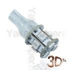 Ampoule T15 LED 3D<sup>9</sup> - Culot W16W - Orange