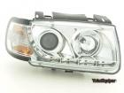 Phares avant VW Polo (6N) Devil Eyes LED - Chrome