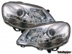 Phares avant VW Polo (9N3) Devil Eyes LED - Chrome